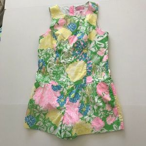 EUC Lilly Pulitzer Hibiscus Stroll Romper
